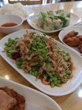 Payaya Salad (SOM TUM). Papaya salad . Traditional food from north eastern , Thailand Stock Photos