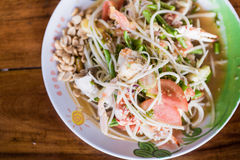 Som tum/ Papaya spicy salad Stock Images