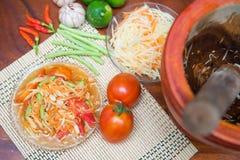Som Tum spicy papaya salad Thai food Stock Photography