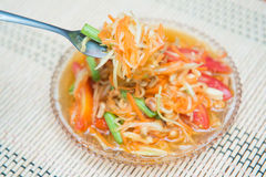 Som Tum spicy papaya salad Thai food Stock Photo