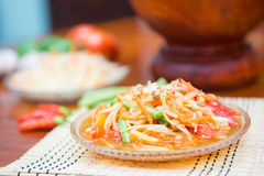 Som Tum spicy papaya salad Thai food Royalty Free Stock Image