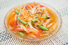 Som Tum spicy papaya salad Thai food, Royalty Free Stock Images