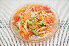 Som Tum spicy papaya salad Thai food Stock Photos