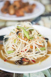 Som Tum spicy papaya salad Thai food. Cuisine royalty free stock images