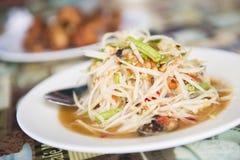 Som Tum spicy papaya salad Thai food Stock Photo