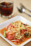 SOM TUM,Thai foods or papaya salad in spicy taste and is popular Royalty Free Stock Photo