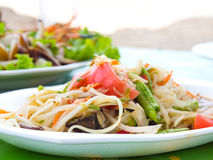 Som Tum. Thai papaya salad also known as Som Tum from Thailand Royalty Free Stock Photo