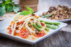 Som Tum. Thai papaya salad,  Som Tum from Thailand Royalty Free Stock Images
