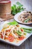 Som Tum. Thai papaya salad,  Som Tum from Thailand Stock Photo