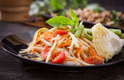 Som Tum. Thai papaya salad,  Som Tum from Thailand Royalty Free Stock Photo