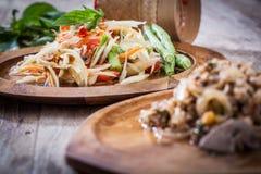 Som Tum. Thai papaya salad,  Som Tum from Thailand Royalty Free Stock Image
