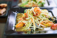 Som Tum Thai papaya salad. Traditional Thai food royalty free stock image