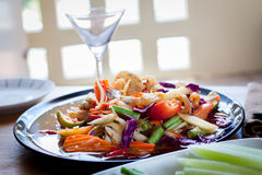 Som Tum, Thai papaya salad. Traditional Thai food Royalty Free Stock Photography