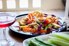 Som Tum, Thai papaya salad. Traditional Thai food Royalty Free Stock Images