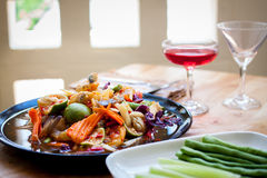 Som Tum, Thai papaya salad. Traditional Thai food Royalty Free Stock Photos