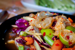 Som Tum, Thai papaya salad. Traditional Thai food Stock Image