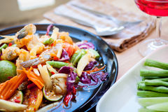 Som Tum, Thai papaya salad. Traditional Thai food Royalty Free Stock Image