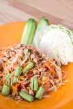 Som tum Thai. Papaya spicy salad Thailand food Stock Photo