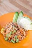 Som tum Thai. Papaya spicy salad Thailand food Royalty Free Stock Photo