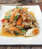 Som Tum or Thai Salad. One of the most favorite Thai foods royalty free stock photography