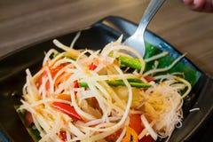 Spicy Papaya Salad. Som tum Thai, Spicy Papaya Salad royalty free stock image