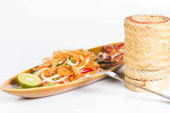 Som tum thai. Thai spicy salad or som tum thai royalty free stock photos