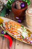 Som tum thai. Thai spicy salad or som tum thai royalty free stock images