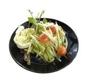 Som Tum, thailändischer Lebensmittelteller Stockfoto