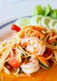 Som Tum, thailändischer Salat Lizenzfreies Stockbild