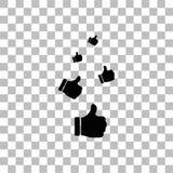 Som tummar upp symbolsl?genhet stock illustrationer
