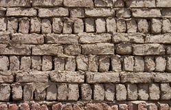som vägg för bakgrundstegelstenlera Arkivbild