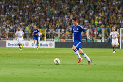 Soma Charity Tournament. ISTANBUL - AUGUST 08, 2014: Chelsea is attacking to Fenerbahce in Soma Charity Tournament in Sukru Saracoglu Stadium Stock Photo
