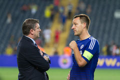 Soma Charity Tournament. ISTANBUL - AUGUST 08, 2014: Chelsea captain John Terry during award ceremony of Soma Charity Tournament in Sukru Saracoglu Stadium Stock Image