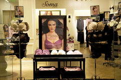 Soma underwear bra fashion store Stock Photo