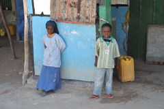 Somali children from the village Royalty Free Stock Photo