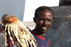 Somali Fisher man Stock Images