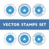 Somali flag rubber stamps set. Stock Photo