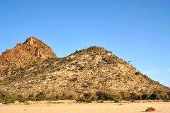 Somali landscape. Desert landscapes of the African Somalia Stock Image