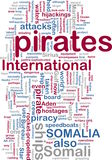 Somali piracy wordcloud Royalty Free Stock Photo