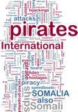 Somali piracy wordcloud Royalty Free Stock Photo