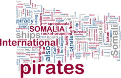 Somali piracy wordcloud Stock Images