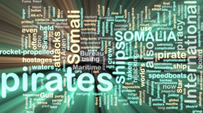 Somali piracy wordcloud glowing Royalty Free Stock Photo