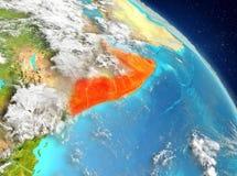 Somalia de la órbita ilustración del vector