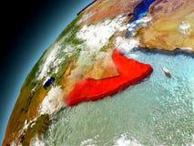 Somalia de la órbita de Earth modelo Imagenes de archivo