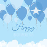 Somalia dnia niepodległości mieszkania kartka z pozdrowieniami Obraz Royalty Free