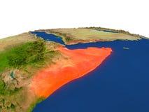 Somalia en rojo de la órbita libre illustration