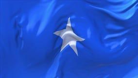 Somalia fahnenschwenkend Wind-im ununterbrochenen nahtlosen Schleifen-Hintergrund lizenzfreie abbildung