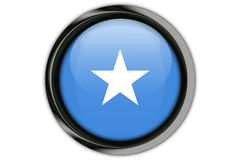 Somalia flag in the button pin Isolated on White Background Royalty Free Stock Images