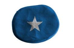 Somalia flag,flag clay on white background.  Royalty Free Stock Images
