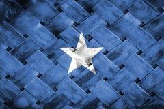 Somalia flag, flag on the wood.  Royalty Free Stock Image
